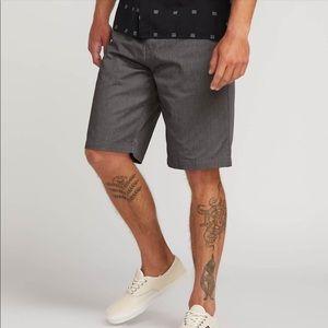 Men's Gray Volcom Boardshort